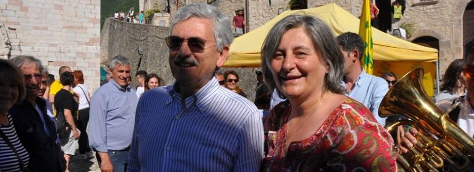 Massimo D'Alema in comagnia del Sindaco